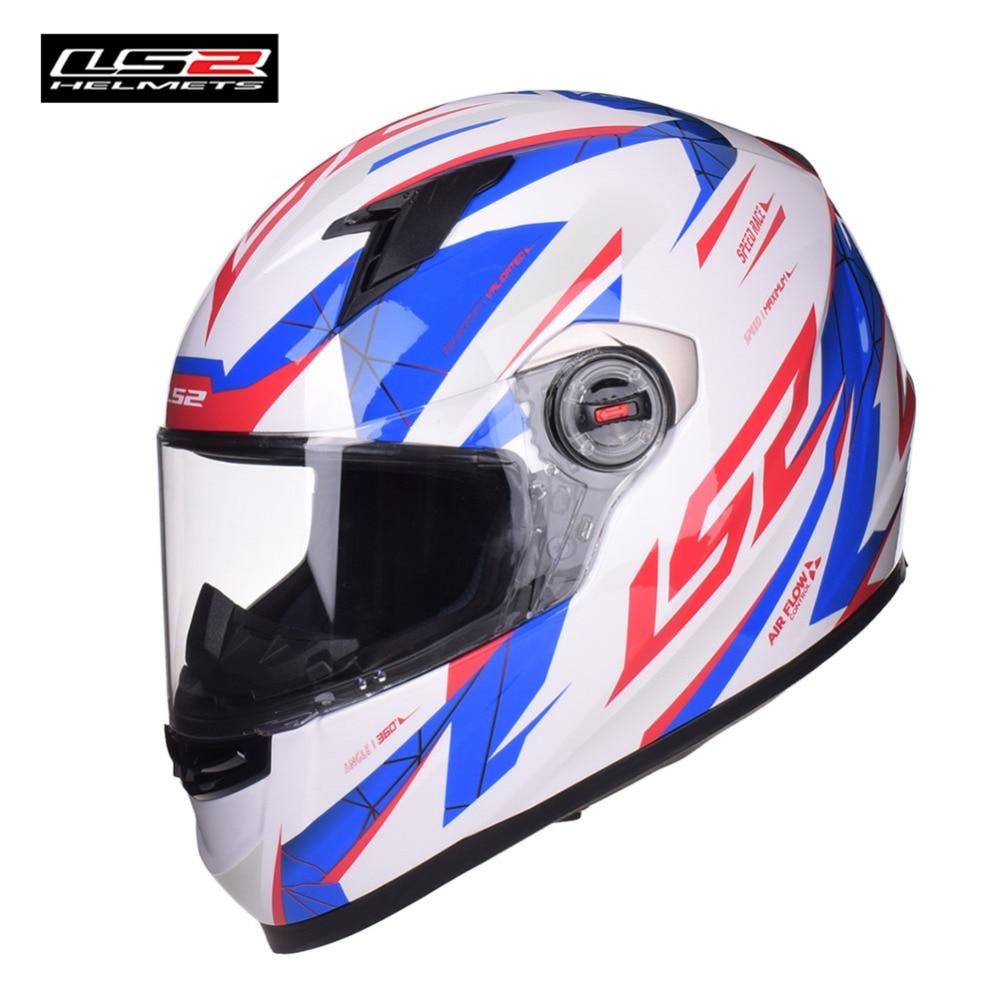 цена на LS2 Full Face Motorcycle Helmet Capacete Casco Casque Moto Helm Kask Helmets Crash For Kawasaki Bike Motorbike 358 Motor Helmet
