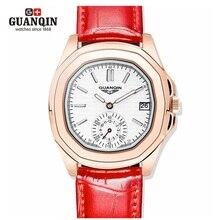 Señoras de lujo GUANQIN Relojes 2016 Marca de Fábrica Famosa Mujer Montre Femme Reloj Resistente Al Agua Reloj de Cuarzo Vestido Reloj de Pulsera de La Vendimia