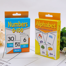 Early Education Card Numbers Letters Card Advances Kid Flash Study Cards In English Teaching Cards Game Learning Poker subtraction 52 flash cards