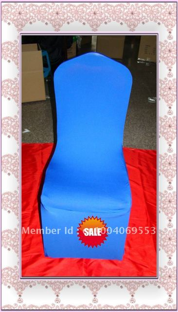 Free shipping -Top quality royal blue spandex chair cover/lycra chair cover
