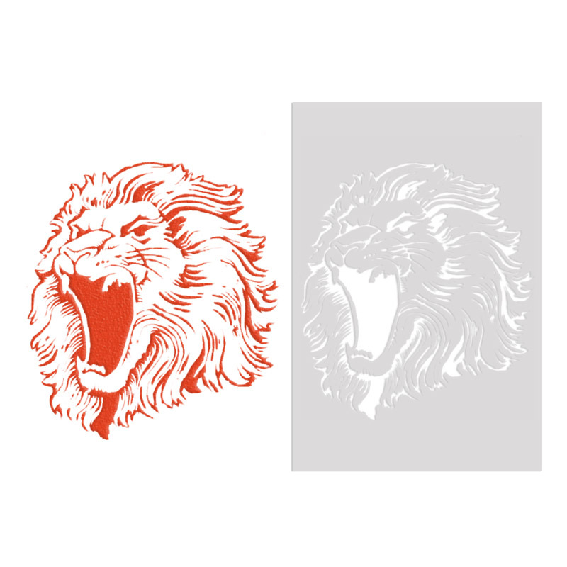 Free Shipping 26*18cm DIY Craft Lion Pattern Stencils Template For Wall Painting DIY Fabric Painting Photo Album Decorative