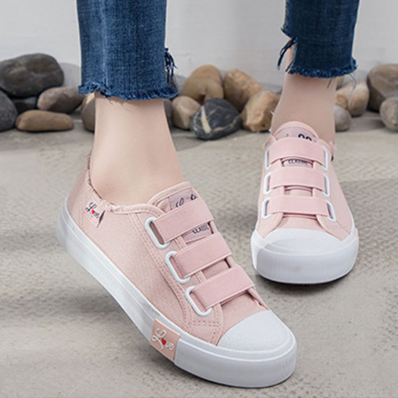 DUOYANG 2018 Women Flat Shoes Breathable Ladies Canvas Sneakers Spring Casual Female Shoes Causal Shoes