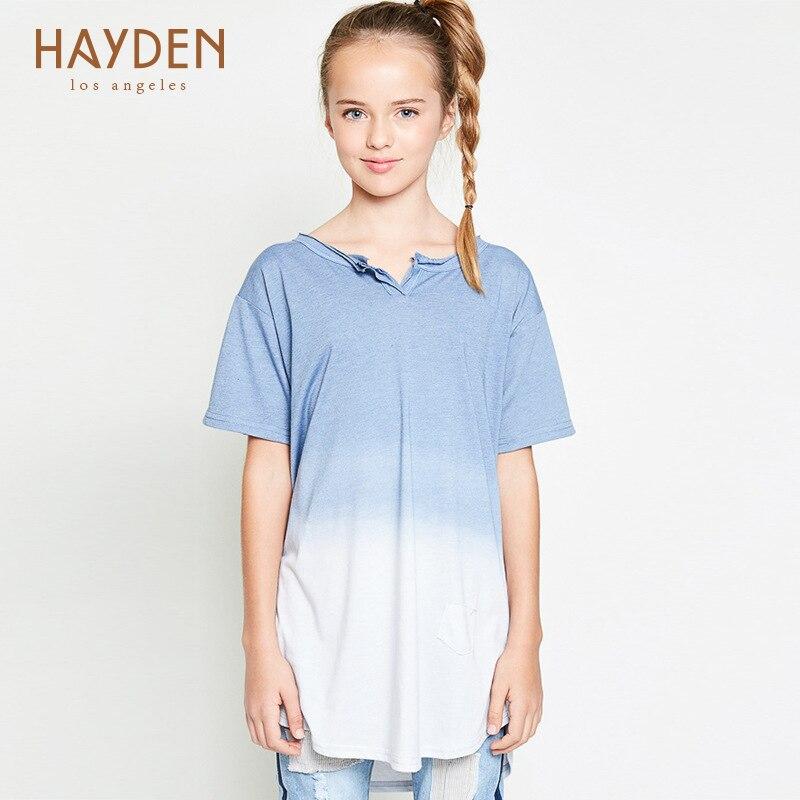 124eaf4753d4e HAYDEN school girl t shirt indien bleu coton tops taille 7 8 12 13 ans adolescent  filles vêtements automne adolescente enfants vêtements dans Tee-shirts de  ...