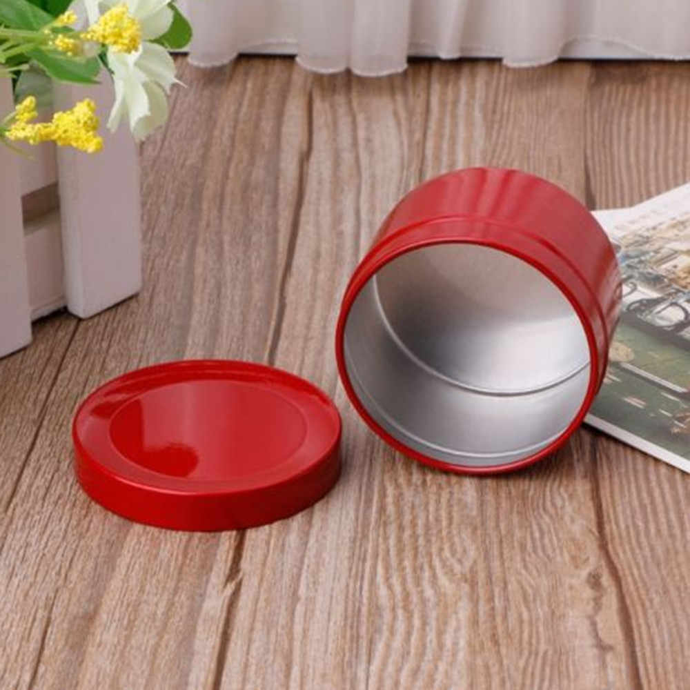 Mini Tin Tea Candy Biscuits Cookie Storage Box Round Metal Case Wedding Party Favor Organizer Container 50ml  Free Shipping