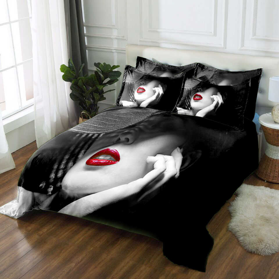 California king size 3D bedding set twin full queen size Bed/flat Sheet Linen set Duvet Quilt Cover Pillowcase Sex goddess print