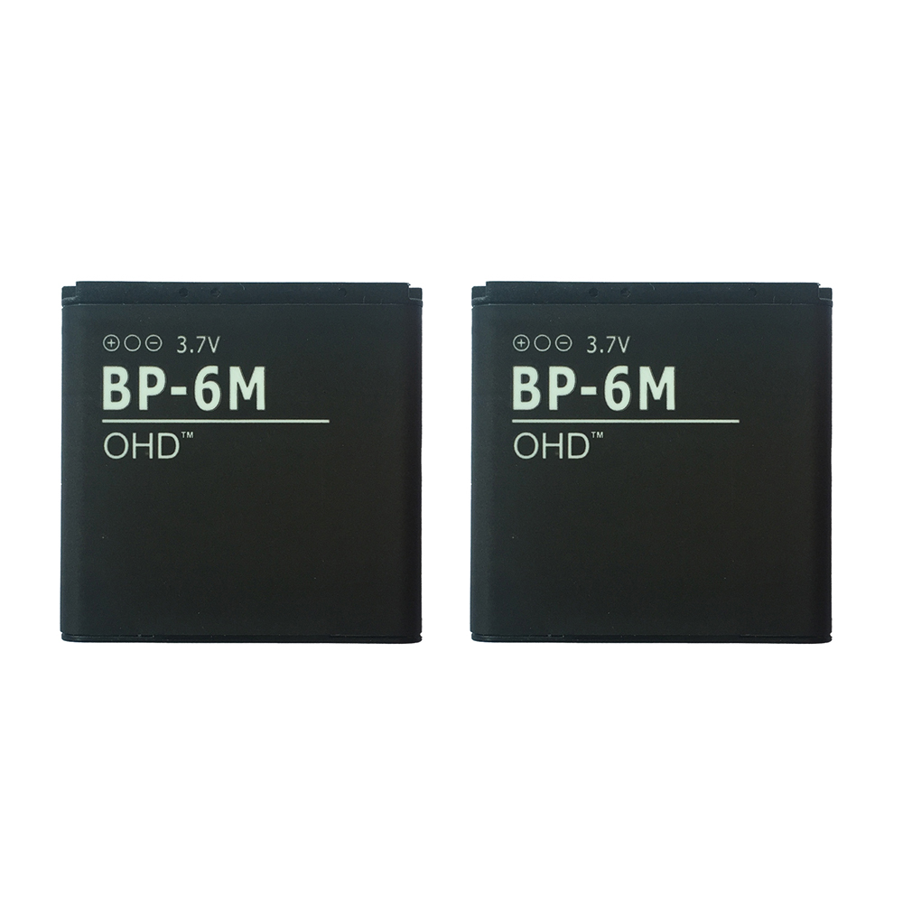 Ооз 2 шт./лот натуральная BP6M <font><b>bp</b></font>&#8211;<font><b>6m</b></font> 6 м Батарея для <font><b>Nokia</b></font> N73 N77 3250 6233 6280 6234 N93 9300 BP6M ВР 6 м