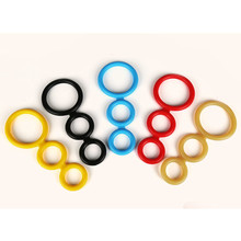 Candy Color Three Joined Dick Ring For Male Sexual