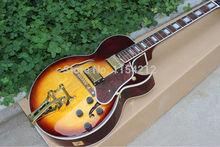 Großhandel benutzerdefinierte Hohlkörper ES335 Jazz E-gitarre honig sunburst F-loch mit gold-hardware!