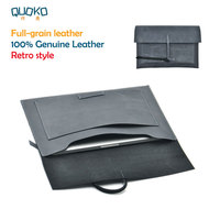 Retro style Laptop Bag super slim sleeve pouch cover,100% Full grain Leather laptop sleeve case for Huawei MateBook X Pro 13.9
