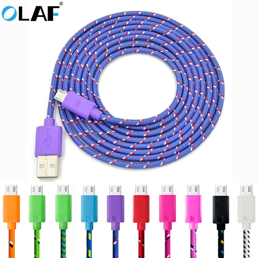 GemäßIgt Olaf 1 M 2 M Nylon Weben Schnelle Ladegerät Micro Usb Kabel Für Xiaomi Redmi Hinweis 5 Pro 4 Micro Usb Ladegerät Datenkabel Für Samsung S7 S6 100% Garantie Handy-zubehör