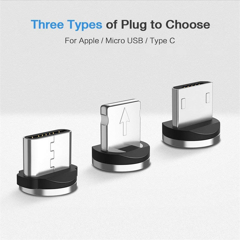 3 Magnetic Plugs USB Port Magnetic Adapter Charger For IPhone IOS Android Type C USB Cable For IPhone Samsung Xiaomi Huawei