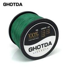 New Brand GHOTDA 100% PE Braided Fishing Line 20LB-100LB 8 Strands Saltwater Multifilament Carp Fishing Line 300 500 1000 meter
