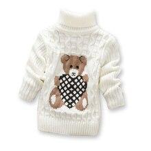 Hot Sale Baby Girls Boys jumper Autumn Winter Cartoon Sweaters Kids Knitted Pullovers Turtleneck Warm Outerwear Boys Sweater