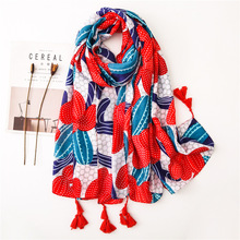 2019 summer floral women's scarf luxury brand designer shawl ladies ponchos and capes blanket head infinity scarf bufanda mujer цена