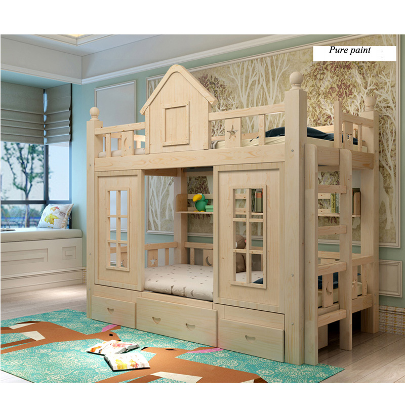15  0128TB006 Fashionable kids bed room furnishings princess fortress with slide storages cupboard stairs double kids mattress HTB1Paxoo3nH8KJjSspcq6z3QFXa1