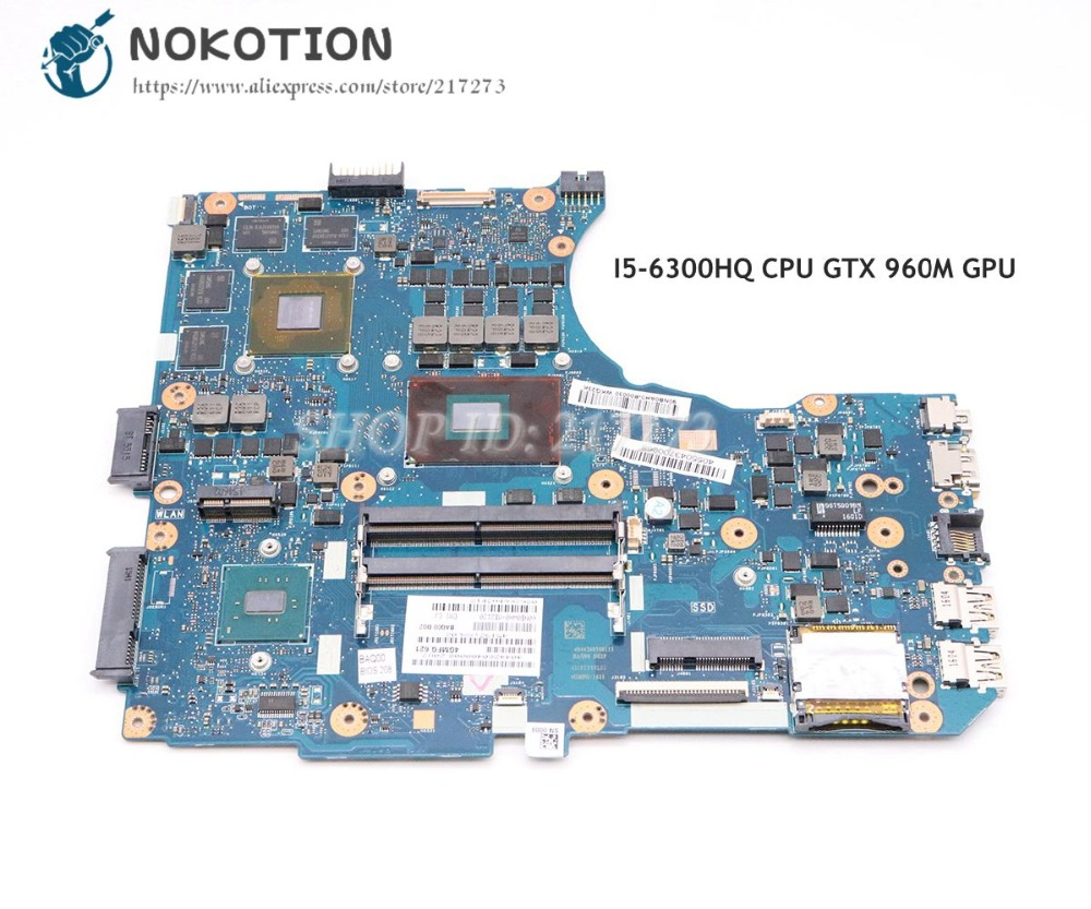 NOKOTION материнская плата для ноутбука Asus N551VW основная плата I5 6300HQ Процессор DDR4 GTX 960 м видео карты