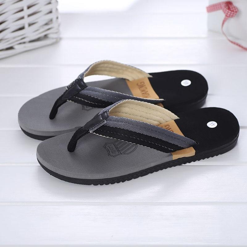 XMISTUO Trend front Gingham men's flip flops non-slip leisure sandals wavy stripes mixed colors beach slippers trend sandals knot front gingham top