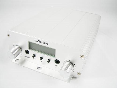 Оптовая торговля 5 шт. 15 Вт CZH-15A FM Трансляция PLL Передатчик с Автомобиля Sucker FM Антенна автомобиля адаптер комплект используется в покрытие автомобиля 1 км ~ 5 км