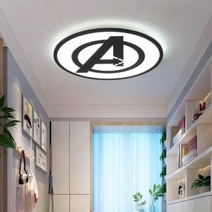 Image 2 - Modernas luzes de teto led para quarto estudo sala crianças rom casa deco preto/azul lâmpada do teto