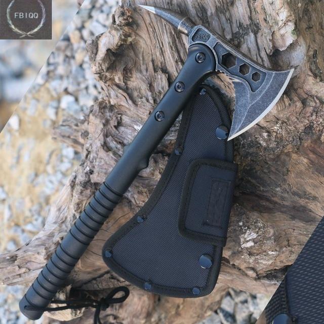 FBIQQ Tactical Axe Tomahawk Army Outdoor Hunting Camping Survival Machete Axes Hand Tools Fire Axe Hatchet Axe/Ice Axe 1