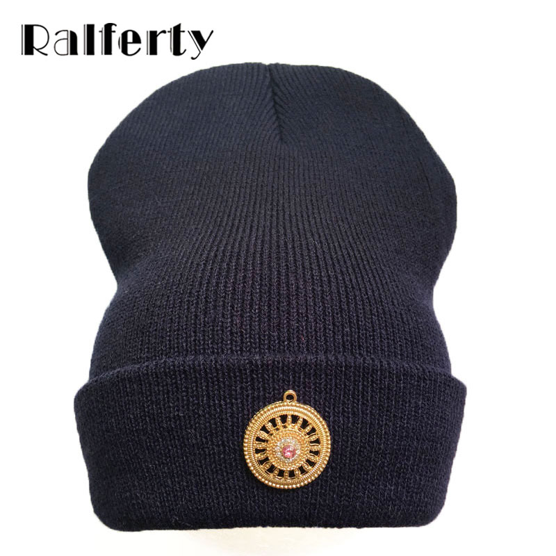 Ralferty Vintage Winter Beanie Hat bonnet femme gorros Beanies Skullies Casual Acrylic Hats Women Multi Color Cap Drop Shipping  1pcsfashion knits hat cap winter hat for women hat skullies beanies brand soft cap female cap bonnet femme gorros mujer invierno
