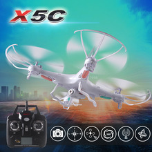 Syma X5C 2.4G 4CH 6-Axis Original quadcopter RC helicopter drone with 2MP HD FPV camera RC toy-white