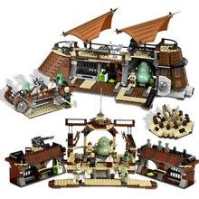 В наличии 05090 ings Jabba's Парусная баржа набор кирпичей Comptiable ing Star Wars модель строительные блоки мальчики подарок на день рождения игрушка