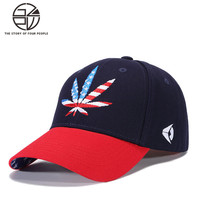 Gzpw 2018 Hot Sell Outdoor Sports American Flag Embroidery Hip Hop Cap Fashion Colorblock Men And