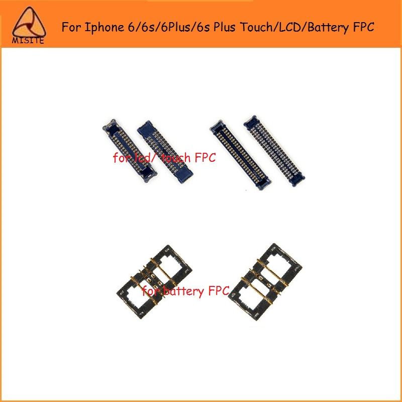10pcs/lot for Iphone 6/6Plus/6S/6S Plus Touch Screen/LCD Screen/Battery FPC Connector on motherboard for iphone FPC connector image