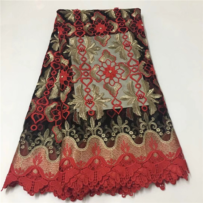 Lace African Guipure French Lace Fabric With Stone African Lace Fabric 2018 High Auality Lace Orange red green white(WDLY-2-19Lace African Guipure French Lace Fabric With Stone African Lace Fabric 2018 High Auality Lace Orange red green white(WDLY-2-19