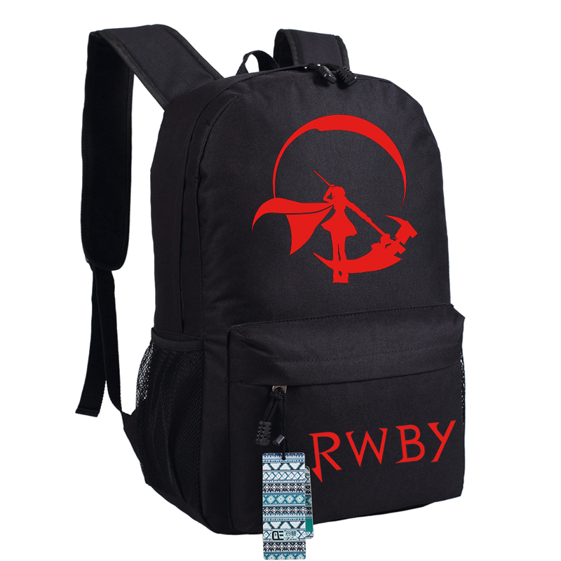 High Quality Anime Rwby Ruby Rose Cosplay Women Printing Backpack Canvas School Bags Fashion Laptop Female Backpack Rucksack #4