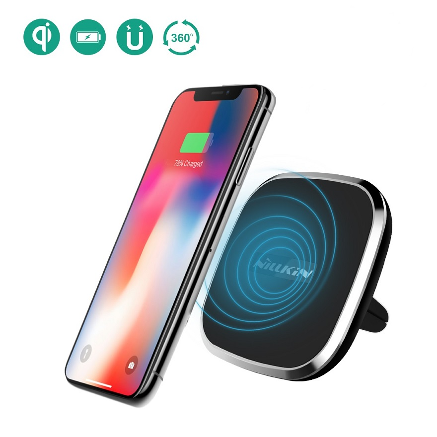 Nillkin Qi car wireless charger magnetic air vent mount