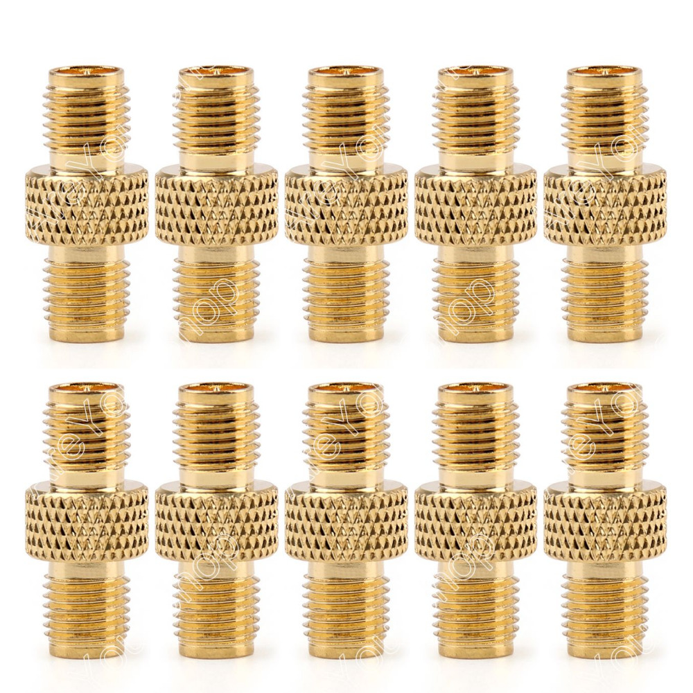 Areyourshop SMA Connector Adapter RP-SMA Female Plug To SMA Female Jack Connector Gold Plating F/F 1 areyourshop sale 10 pcs gold plated f male to pal female plug tv coax antenna cable connector minij