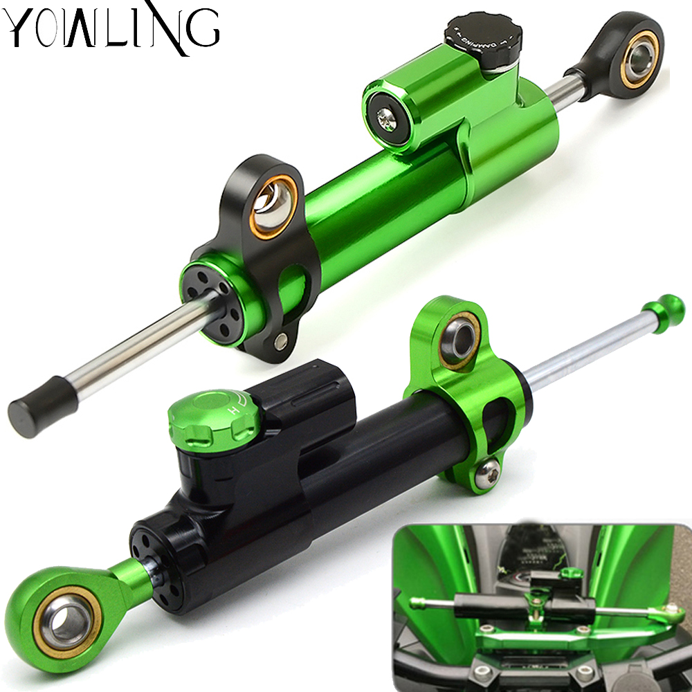 For Kawasaki ZX636 ZX 6R ZX6R 2005 2006 Aluminum Motorcycle Accessories Damper Steering StabilizerLinear Reversed Safety