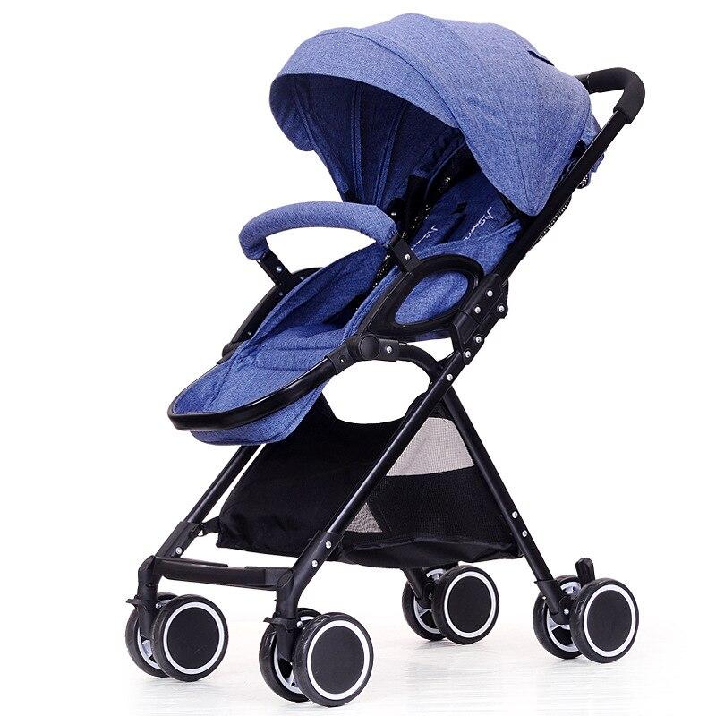 Nouveau Style bébé poussettes paysage Ultra-léger Portable quatre roues printemps été pliable parapluie bébé poussette