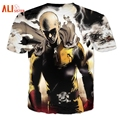 Alisister New Fashion Anime One Punch Man T Shirt Men's Hipster 3D T Shirt Summer Casual Tees Tops Brand T Shirts Mens Dropship