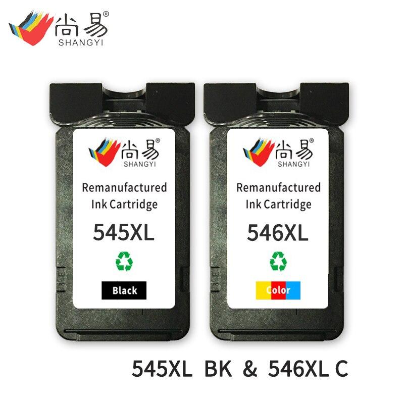 Shangyi 545 XL 546 XL Cartouche D'encre Compatible pour Canon IP2800/IP2850/MG2400/MG2450/MG2455/ MG2500 imprimante
