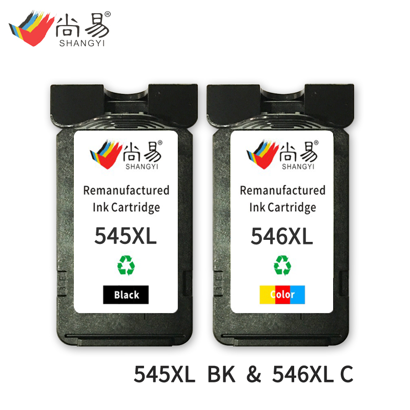 Shangyi 545 XL 546 XL Compatible Ink Cartridge for Canon IP2800 / IP2850 /MG2400 / MG2450 / MG2455 / MG2500 printer