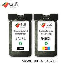 Шани 545 XL 546 XL Совместимый картридж для Canon IP2800/IP2850/MG2400/MG2450/MG2455/ MG2500 принтера