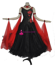 Standard Competition Ballroom Dance Dress Women Black High Quality Flamenco Modern Waltz Dancing Dresses Adult