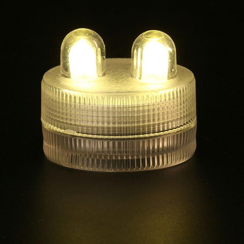100 pcs/Lot Super lumineux 2 LED étanche sous-marine Submersible Floralyte lumière LED pour les événements de fête de mariage vacances éclairage
