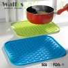 WALFOS food grade Multifunction silicone coaster Non-slip silicone Heat Resistant Mat Coaster Cushion Placemat Pot Holder
