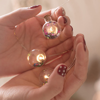 15Led Fairy Colorful Glass Bottle Ball Battery Operated String Lights 2M LED Decoration For Christmas Garland New Year gerlyanda