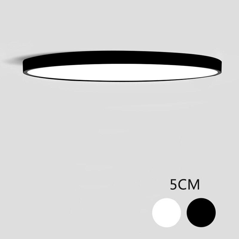 Lámparas de techo de iluminación LED ultrafina para el techo de la sala de estar candelabros de techo para el salón lámpara de techo moderna alta de 5 cm