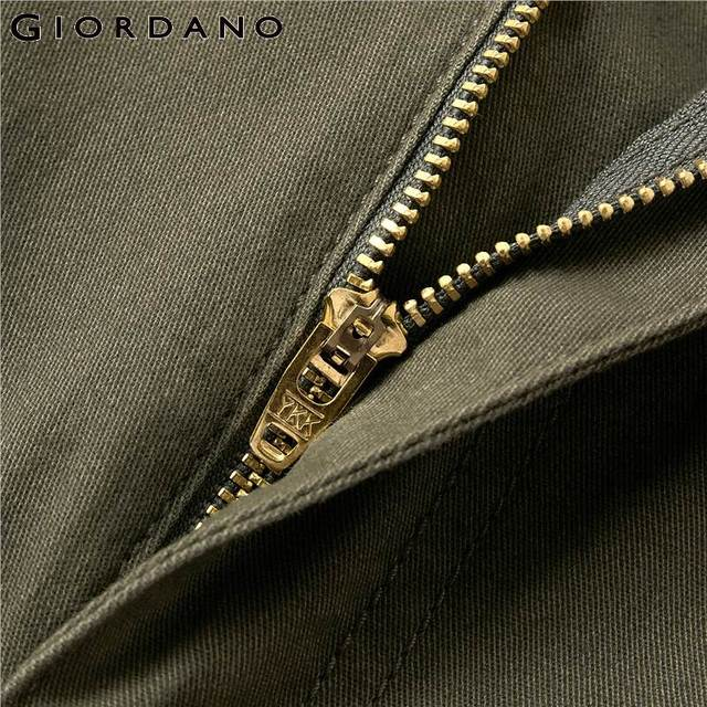 Giordano Men Pants Men Stretchy Cotton Spandex Solid Color Casual Pants Men Zip Front Button Closure Pantalones Hombre 61