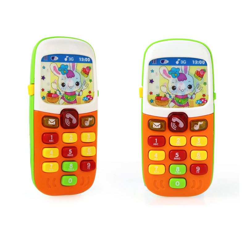 Electronic Toy Phone Kid Mobile Phone Cellphone Telephone Educational Learning Toys Music Baby Infant Phone Best Gift for kid image