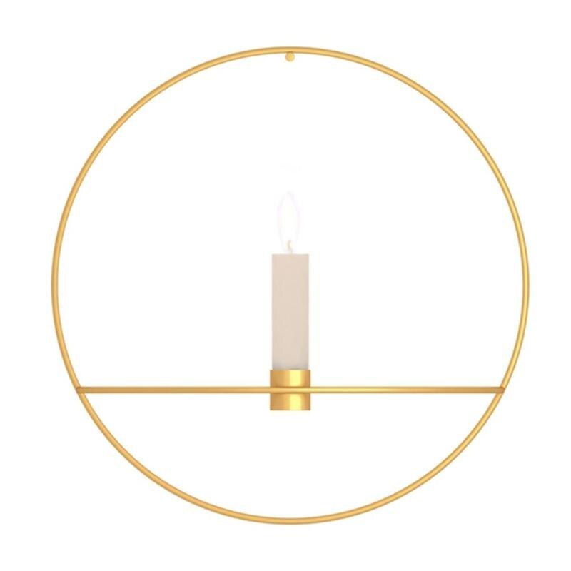 3D металлический подсвечник настенный геометрический Круглый Подсвечник домашний декор геометрический чайный светильник подарок на день Святого Валентина