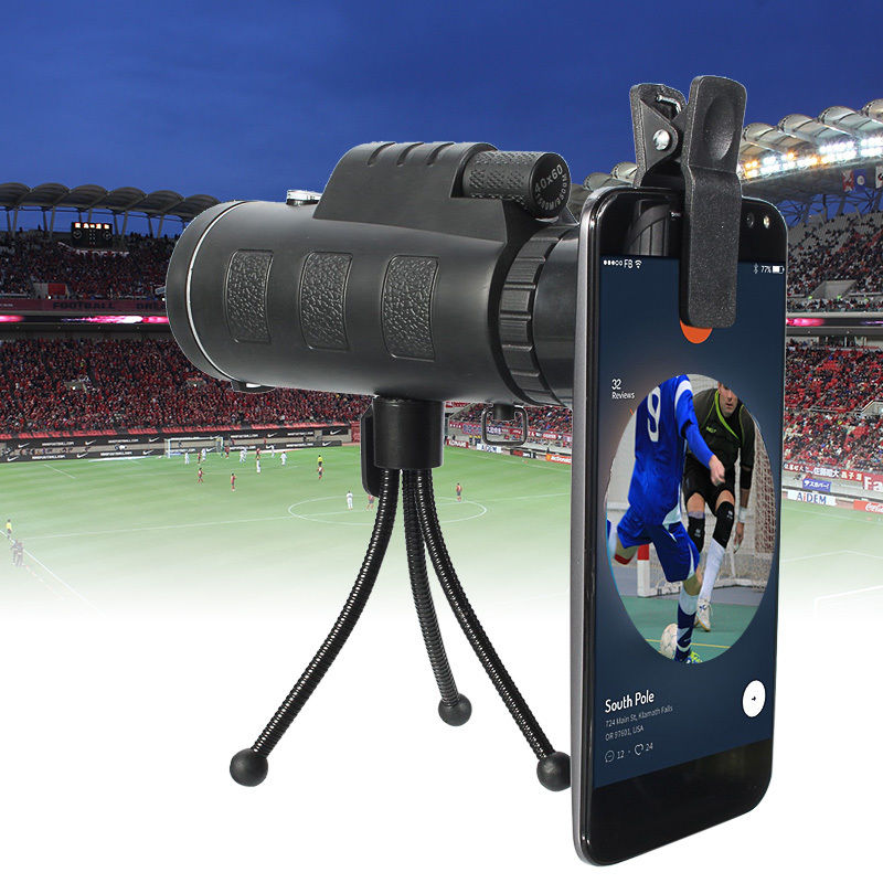20x60 Dual Focus Optical HD Monocular Phone Camera Lens Telescope+Tripod For Wildlife Hunting Camping Sporting Events Travel