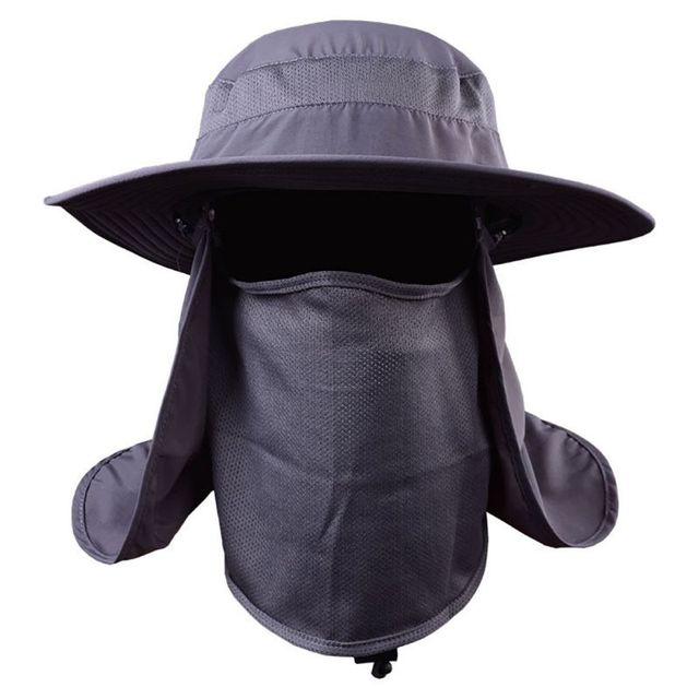 Unisex Outdoor Fishing Hat Quick Dry Hiking Hat UV Protection Wind Proof  Face Neck Flap Sun Cap Hats 9712bc3a9fa1