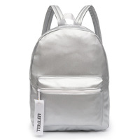 Glossy Backpack Leather PU Girl Glossy Backpack School Bag Women Rainbow Colorful Silver Glossy Backpack